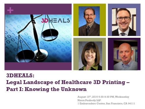 Legal Landscape of Healthcare 3D printing – Part I : Knowing the Unknown