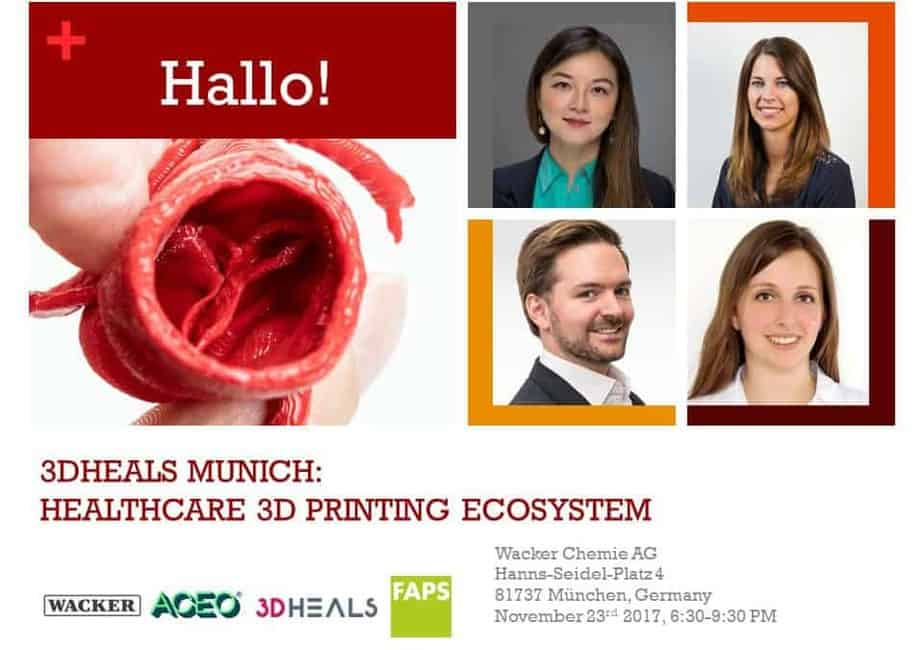 3DHEALS, Munich: The state of healthcare 3D printing 🗓 🗺