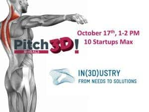 3DHEALS PITCH3D Barcelona – During IN(3D)ustry 2018 🗓