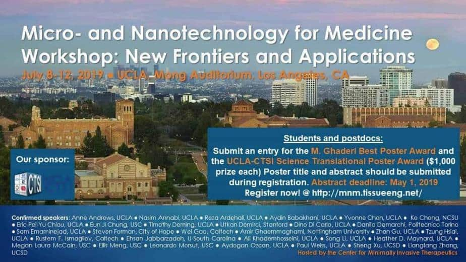 UCLA Micro- and Nanotechnology for Medicine Workshop: New Frontiers and Applications
