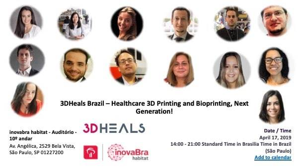 3DHEALS Brazil, São Paulo: Healthcare 3D Printing and Bioprinting, Next Generation